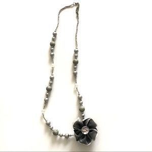 Grey and Black Decorative Necklace